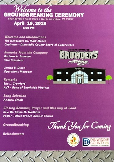 Breaking Ground Ceremony Flyer